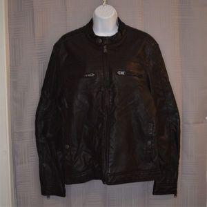 NWT Marc Anthony imitation leather moto jacket
